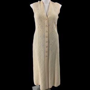 Escada knit sweater dress sequin beaded sleeveless